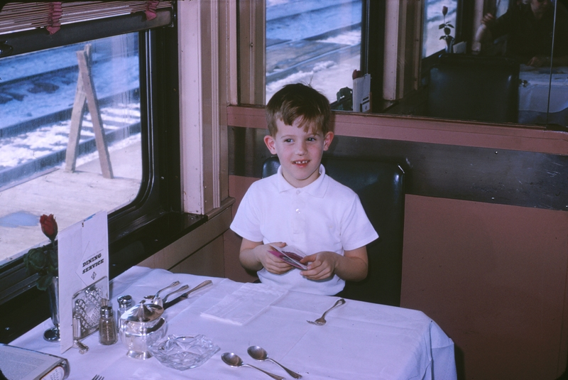 01 1964.02 Dining Car to NYC in Elmira station